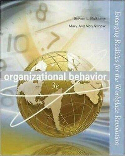 Organizational Behavior Hardcover Steven Mcshane