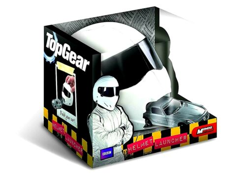 Age for 3+ In White Colour Mondo Moters Top Gear Stig Helmet Launcher Toy
