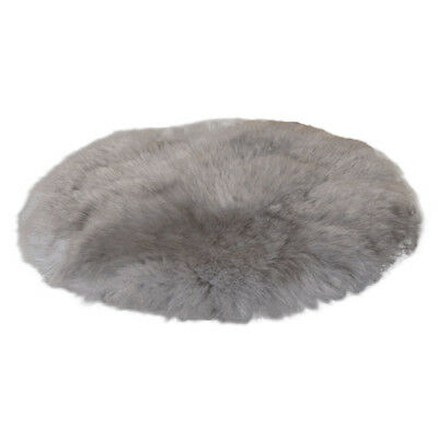 Home Long Fluffy Rug Soft Faux Fur Foot Mats Bedroom Seat Rugs Carpet White/Grey