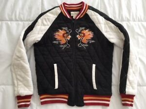 Baseball Dragons Bomber Lauren Ralph Supply Quiltet Lucky Jacket Medium Denim 4CX0qwg