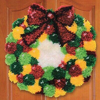 Christmas Wreath Latch Hook Rug Kit