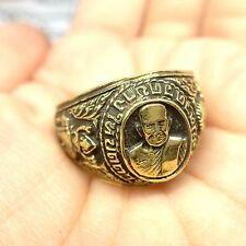 Size11 Magic Ring LP Tuad Brass Thai Buddha Amulet Talisman Lucky Wicca Protect