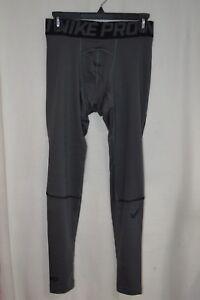 Nike-Men-039-s-Pro-Hyperwarm-Grey-Black-Compression-Tights-917276-021-Size-s-M-L-XL