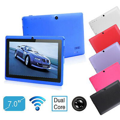 """Color 7"""" inch Google Android 4.2 Dual Core & Camera WIFI 4GB/8GB/16GB Tablet PC"""