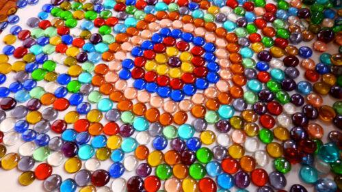 Mosaic Tiles Nuggets Gems Stones Mixed Colours 100 x Glass  Pebbles