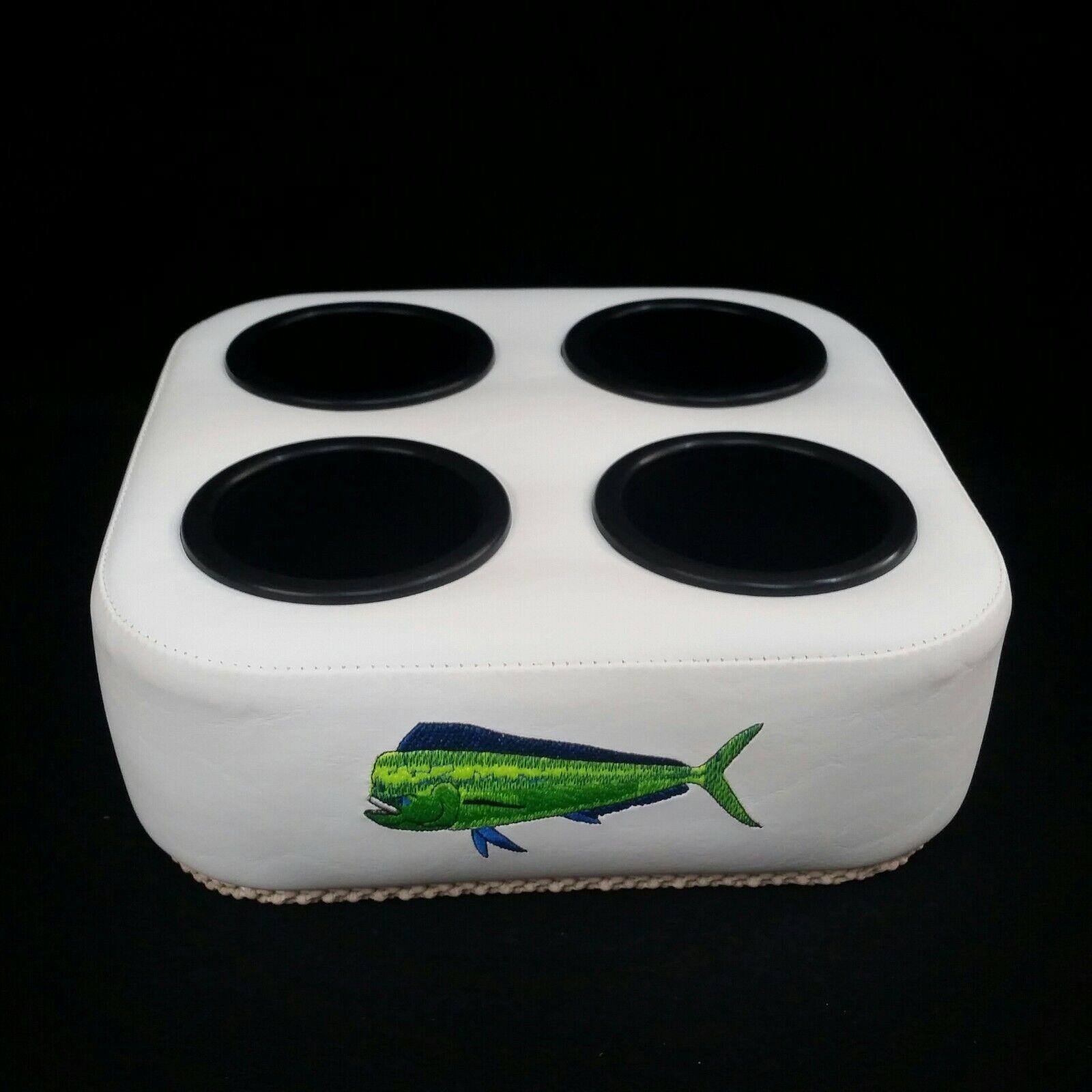 Gripmate Sostenedor De Taza blancoo con logotipo Big Mahi