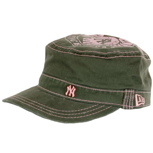 Mens New Era NY Yankees Printed Top Military Hat Cadet Flat Army Summer Work Cap