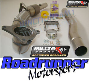 Milltek-Octavia-VRS-2-0T-FSI-06-10-Exhaust-Stainless-Steel-Downpipe-amp-Sports-Cat