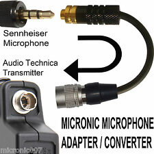 SENNHEISER 3.5mm ME2 MKE2 MICROPHONE ADAPTER TO 4 PIN AUDIO TECHNICA BODYPACK