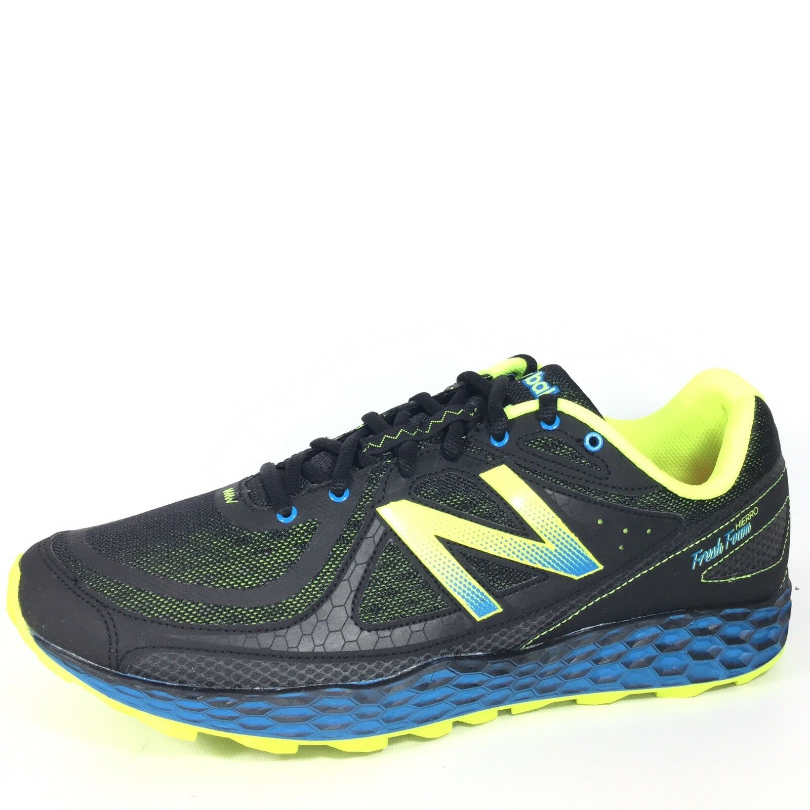 New Balance MTHIERB Mens Size 12.5 D Black Yellow Fresh Foam Trail Running shoes
