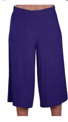 Ladies Women/'s Elasticated Stretch Wide Leg Culottes Shorts Plus Size 8-26
