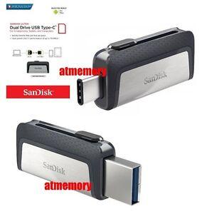 3472a896bc8 Sandisk Ultra Dual Type C 16GB 32GB 64GB 128GB 256GB USB3.1 lot ...