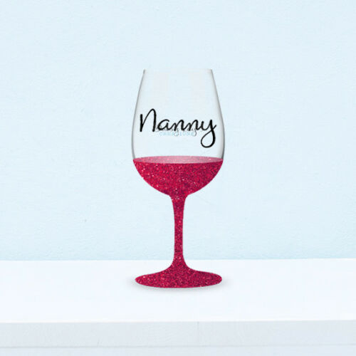 Bauble Vinyl Decal Stickers 6 Nanny Wine Glass V193 DIY