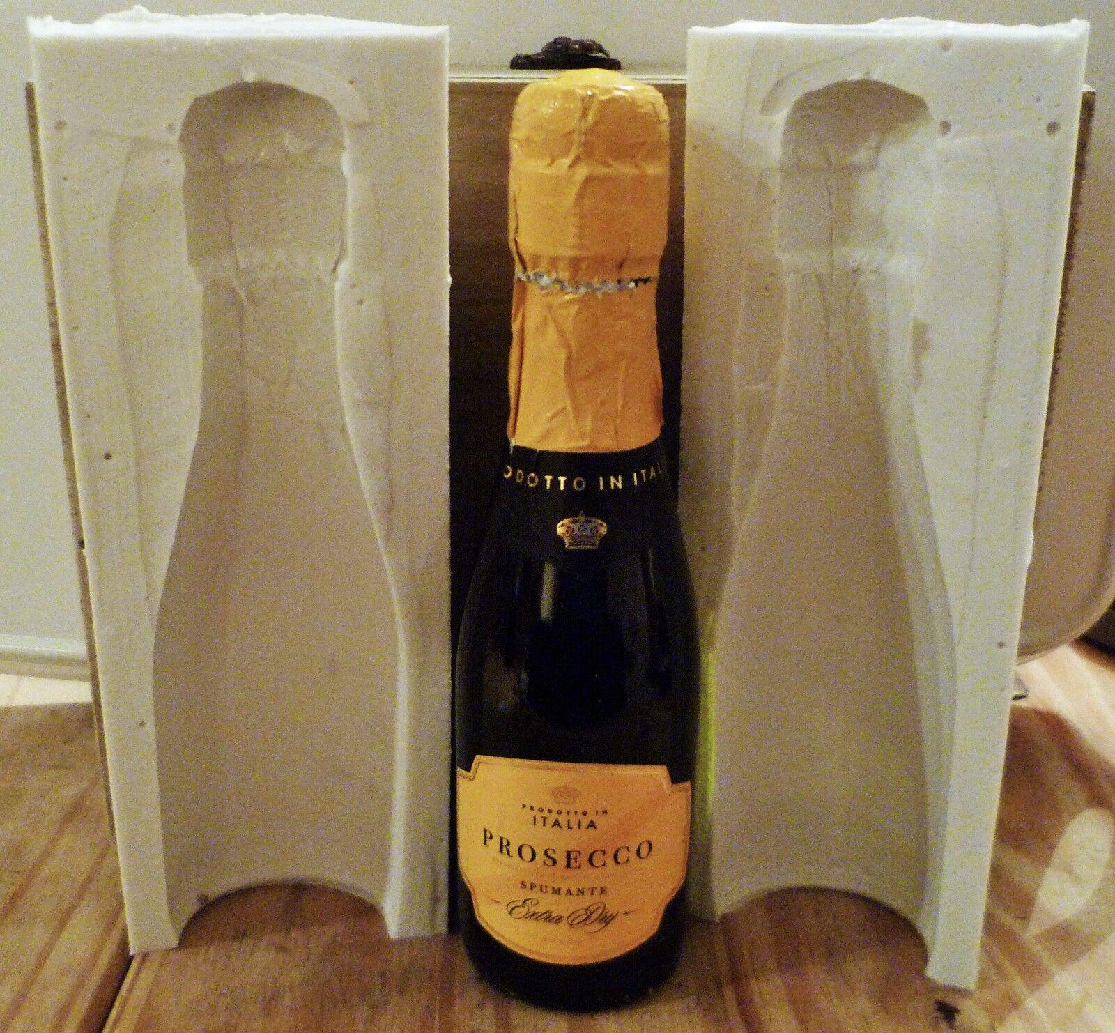 3d Bottiglia di Champagne 20cl Stampo in silicone per cake topper, cioccolato, argilla ecc.