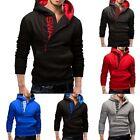 Mens Slim Hoodie Warm Hooded Sweatshirt Coat Jacket Outwear Winter Sweater HOT