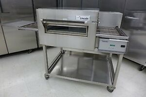 2016-Lincoln-1132-Electric-Conveyor-Pizza-Sandwich-Fry-Convection-Oven-On-Stand