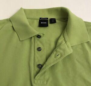 87f829d1f Hugo Boss Mens Size XL Pima Cotton Polo Shirt Lime Green | eBay