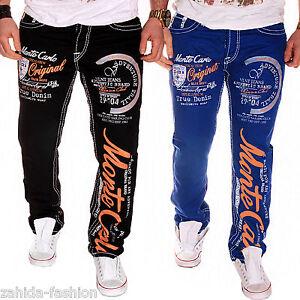 Épaisse Jeans Monte Chino Clubwear Carlo Pantalon Bleu Homme Couture Destroyed rIgIBAw