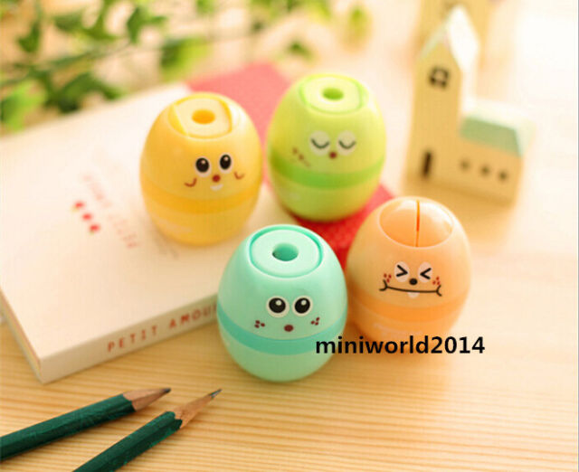 New!4 PCS Korean Creative Stationery Lovely Cute Magic Eggs Pencil Sharpeners