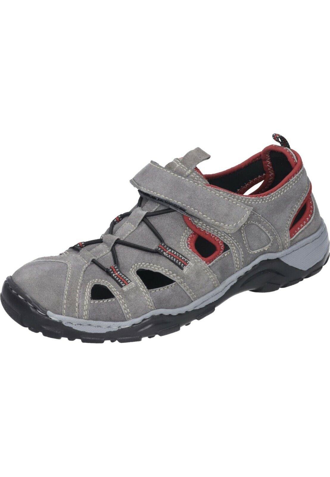 Manitu Sandals Leather Flat Trekking shoes Beige Red 40-46 620232 -8 Neu5