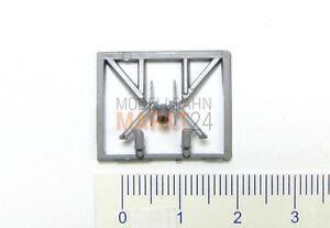 10x ALBEDO Ersatzteil Ladegut Scheibenwischer Spritzling grau H0 1:87 - 0550