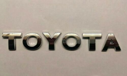 New Chrome 3D Self-adhesive Car Letters badge emblem sticker Spelling TOYOTA