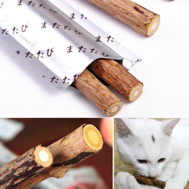 Cat Snacks Matatabi Chew Catnip Stick Teeth Molar Cleaning Brush Toy Pet /b