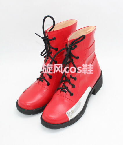 New Final Fantasy Tifa Lockhart red Cosplay Boots shoes shoe Boot