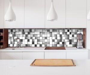 Adesivo Cucina Parete 3D Effetto Mosaico Blocco Quadrati Paraspruzzi ...
