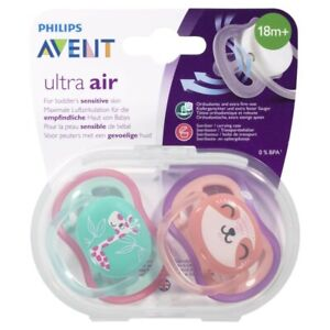 Avent BPA Free Freeflow Soother 18+ Months 2 pack