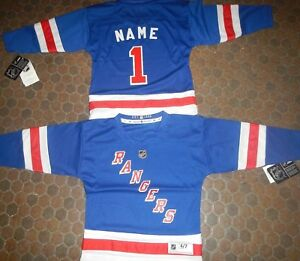 new style be6ec 1ab17 New York Rangers Kids Size 4/7 NHL Hockey Jersey add any ...