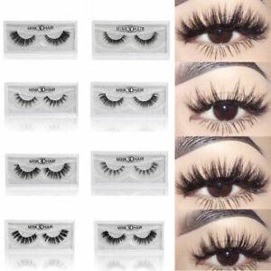 26e577d23aa Fashion Real 3D Mink Soft Long Natural Makeup Eye Lashes Thick False ...