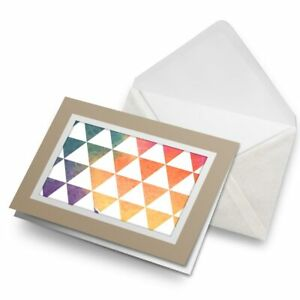 Greetings-Card-Biege-Abstract-Triangles-Pattern-Ombre-24570