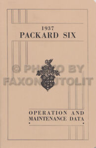 1937-Packard-Six-Owners-Manual-6-Owner-Guide-Book-includes-wiring-diagram-115-C