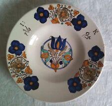 1 Fayence Majolika Teller plate piatto assiette datiert dated daté datato 1695