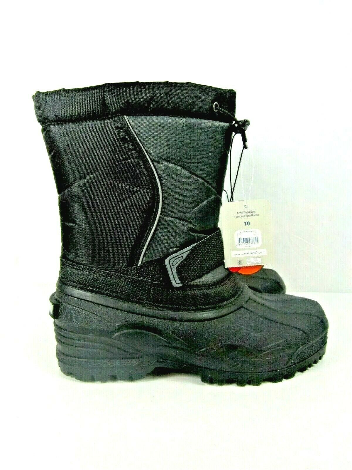 Mens Winter Boots George Essential Size US10 Skid Resistant Cold Weather Rated