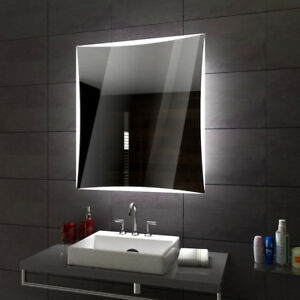 lisbon badspiegel mit led beleuchtung wandspiegel badezimmerspiegel nach ma ebay. Black Bedroom Furniture Sets. Home Design Ideas