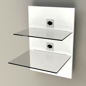 wandpaneel hifi rack media m bel halter ablage dvd reciever wandregal wp450 ebay. Black Bedroom Furniture Sets. Home Design Ideas