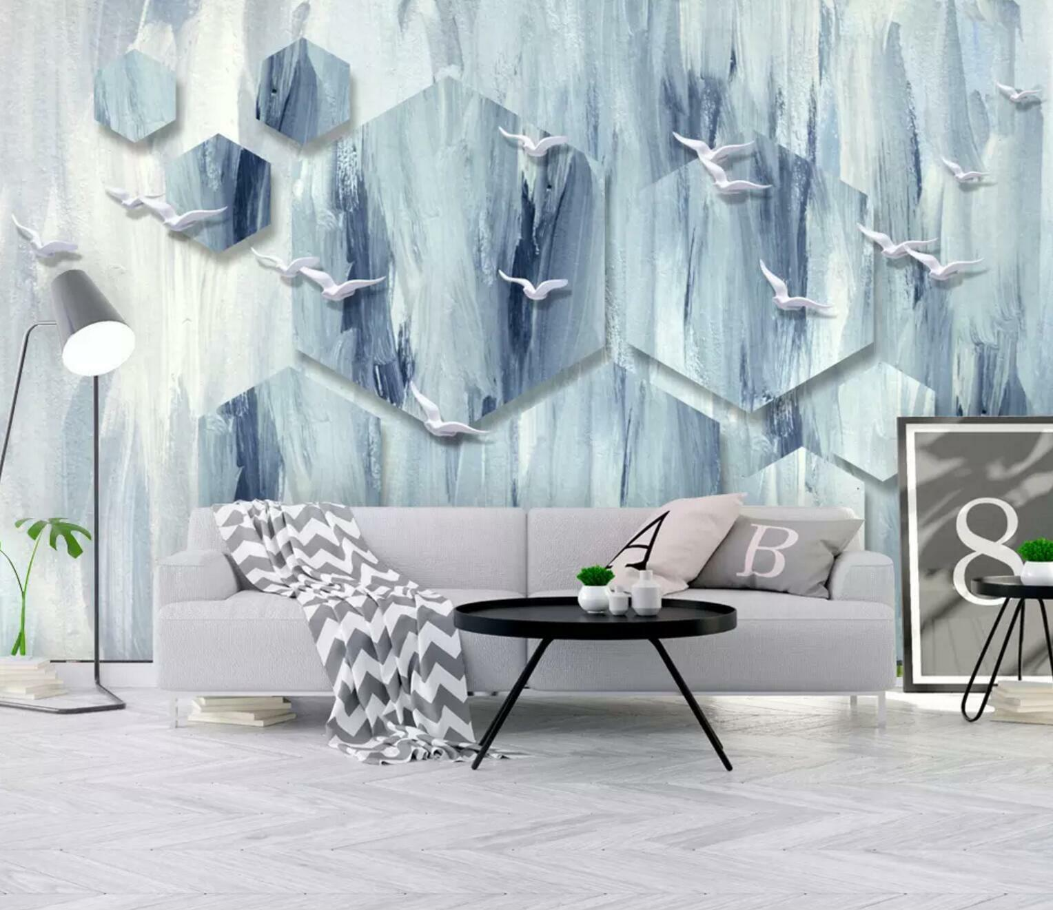 3D Weiß Pigeon 77 Wall Paper Exclusive MXY Wallpaper Mural Decal Indoor Wall AJ