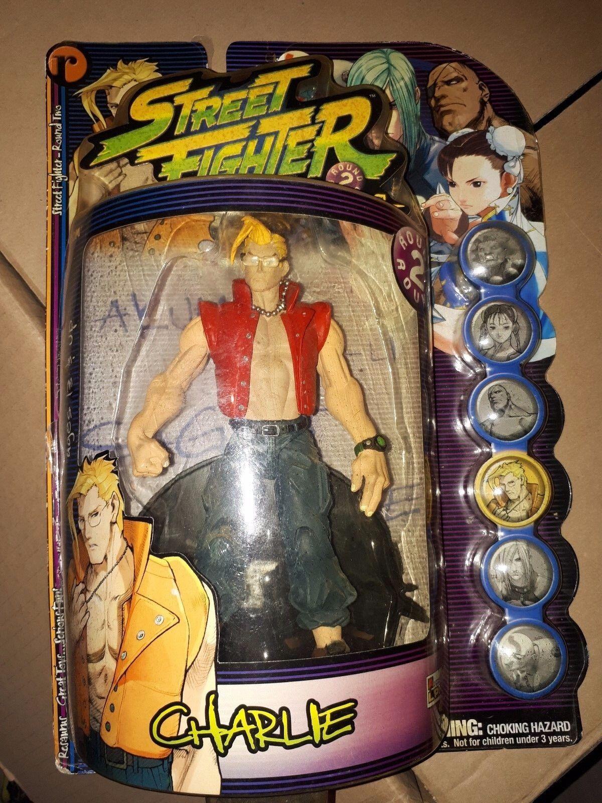 Figurine Street Fighter Resaurus Charlie RARE opened figure Statue  vintage