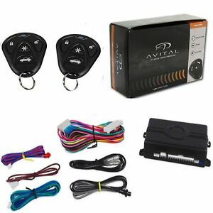 Avital-3100LX-Car-Alarm-W-2-Remotes-Keyless-Entry-Trunk-Release-3-Channel