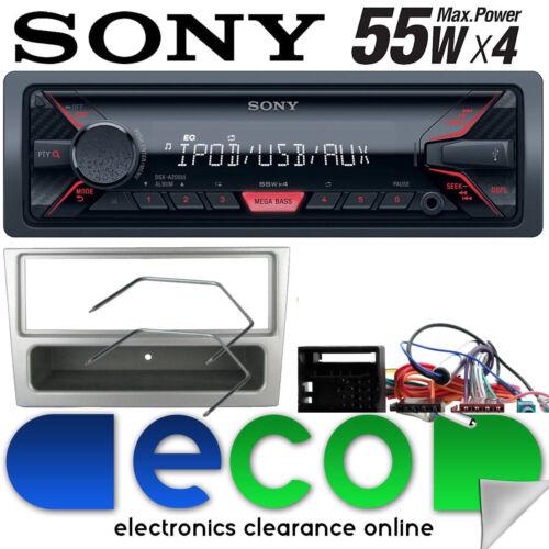 Vauxhall Corsa D 2006-2014 Sony MP3 Mechless radio estéreo de coche AUX en Kit de plata