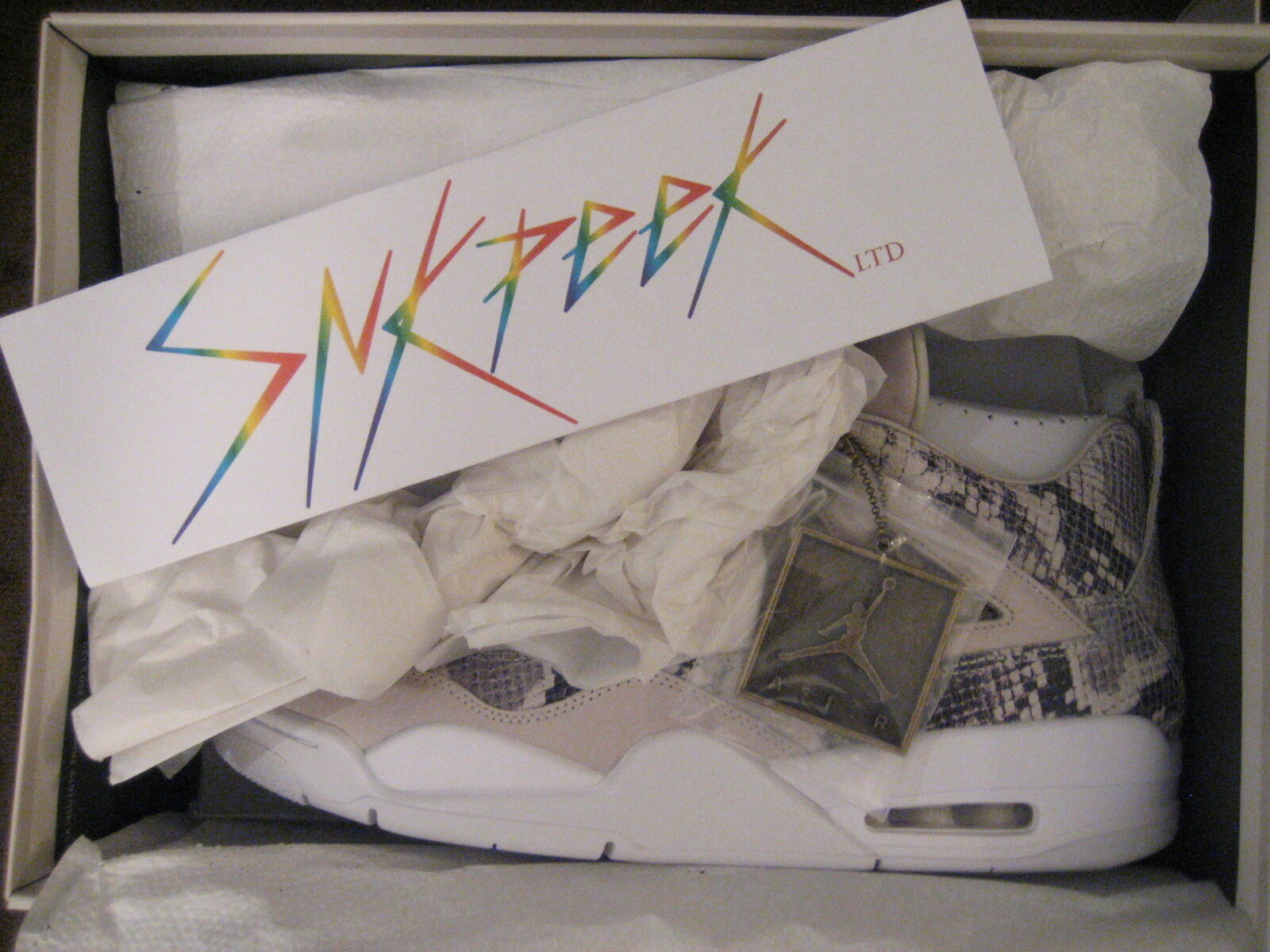NEW Nike Air Jordan Retro 4 Premium Pinnacle Snakeskin 819139-030 DS US 12 New shoes for men and women, limited time discount