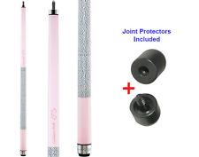 Viper Colours 50-0954 Cashmere Pink Pool Cue Stick 18-21 oz & Joint Protectors