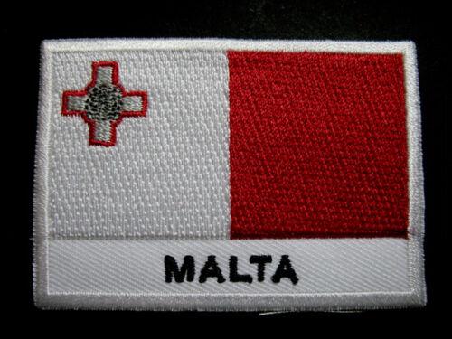 République de MALTE maltais Drapeau National coudre sur patch livraison gratuite