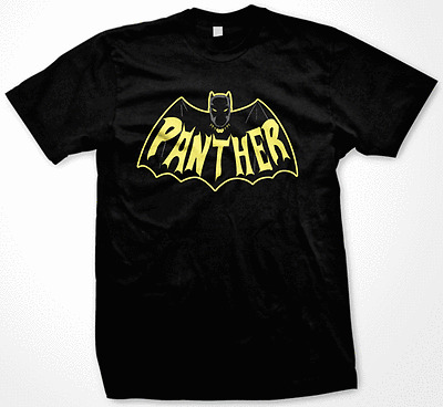 Black Panther Batman Mash Mashup Funny Marvel Tee T-Shirt