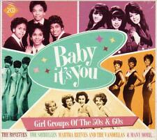 BABY IT`S YOU - GIRL GROUPS OF THE 50`s & 60`s, VARIOUS ARTISTS (NEW SEALED 2CD)