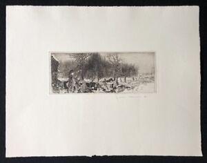 Jens cords, privato discarica, acquaforte, 1978, a mano firmata e datata