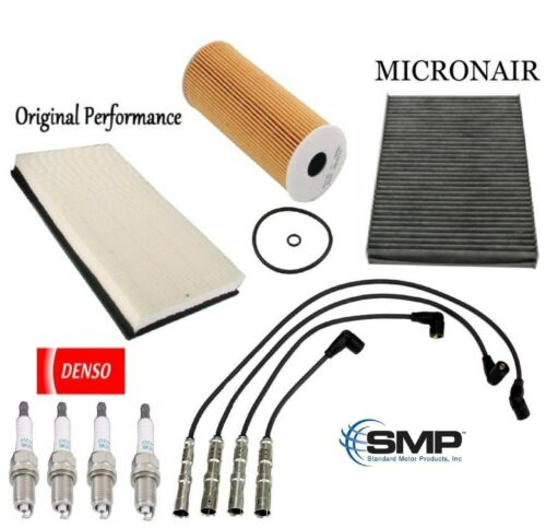 Tune Up Kit Air Cabin Filter Plugs Wires for Volkswagen Jetta  L4 1.9L 2001-2005