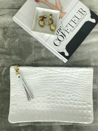 Envelope White Design Clutch New With Abeja Tasselmsrp185 Leather qpjMGULSzV